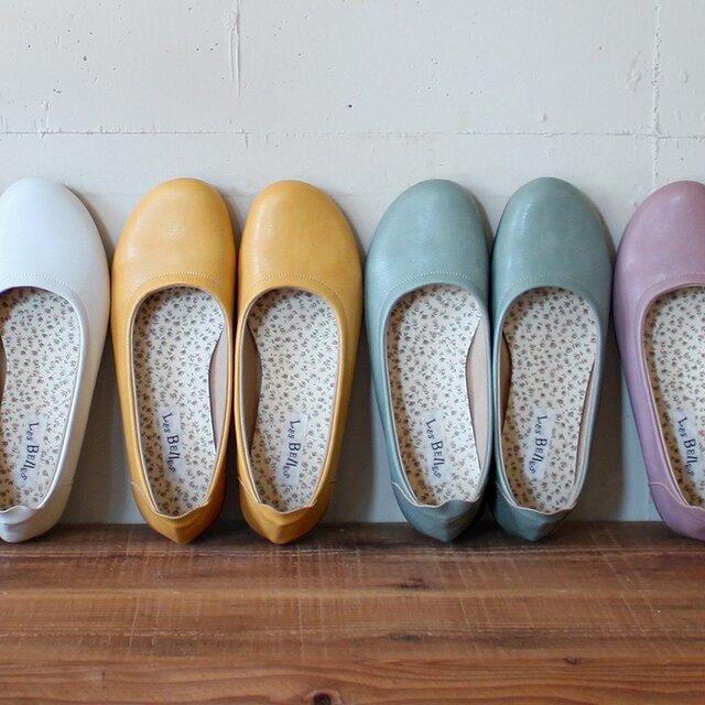 ふんわり柔らか♪春色バレエシューズ(PETAL) 靴 日本製 国産素材 オリジナルシューズ 【受注生産:納期30日】の画像1枚目