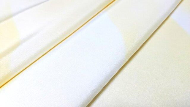 正絹長襦袢地 はぎれ【山並模様】黄色 50cm(073の画像1枚目