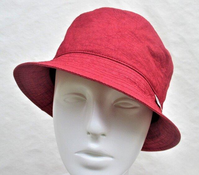 機能性和紙ハット帽子デイープレッドの画像1枚目