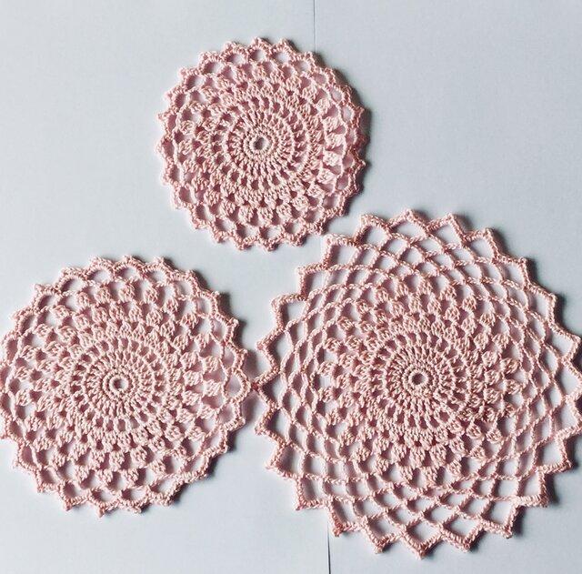 太編みレースのセットの画像1枚目