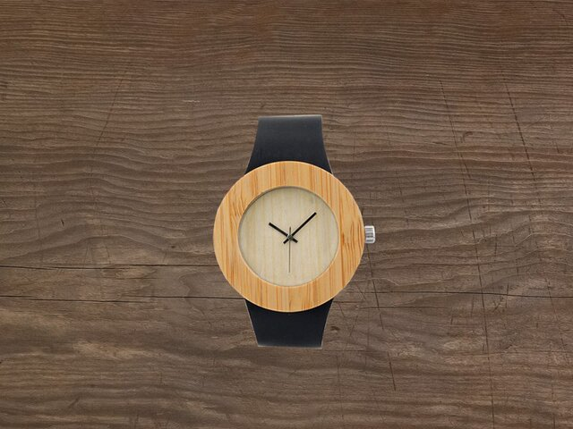 Bamboo Wooden Watchの画像1枚目