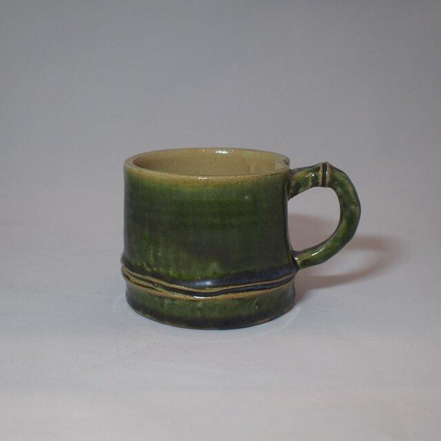 97 竹をモチーフにしたコーヒーマグカップ。の画像1枚目