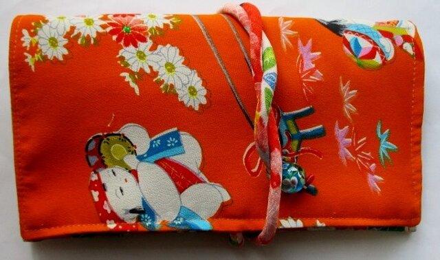 送料無料 女の子の着物で作った和風財布・ポーチ 3610の画像1枚目