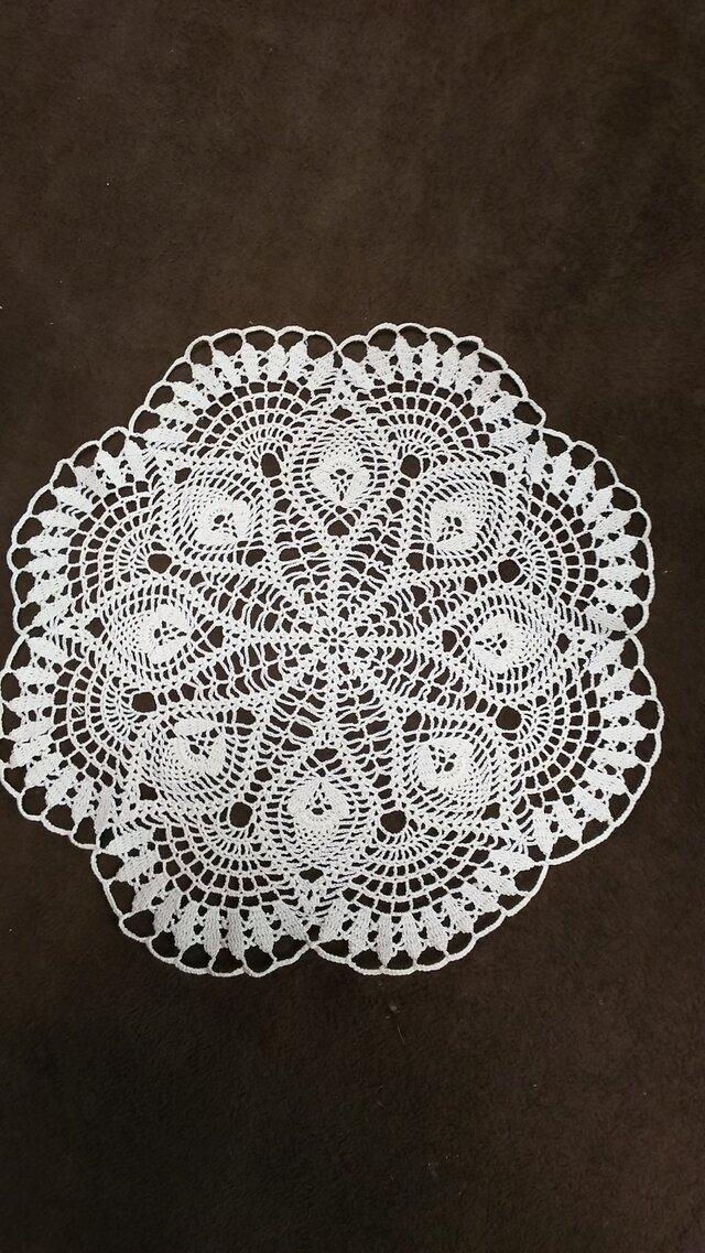 手編みレースドイリー直径約35㎝の画像1枚目