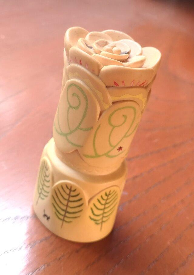 木彫りとはん子 花の画像1枚目