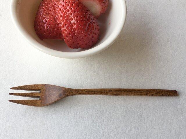 樺の木のデザートフォークの画像1枚目