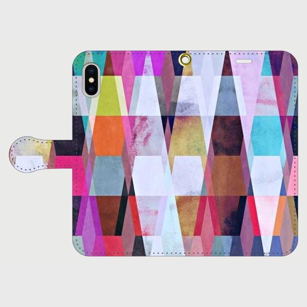 アートペイント「ヒカリの射す方へ」 iphone 5/5s/6/6s/SE/7/8/X 専用 手帳型スマホケースの画像1枚目