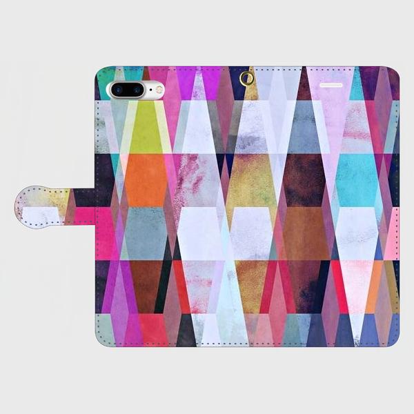 アートペイント「ヒカリの射す方へ」 iphone 6plus/7plus/8plus 等大サイズ専用 手帳型スマホケースの画像1枚目