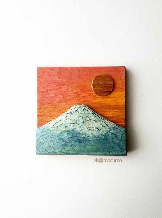 壁かけ 富士山 *橙*の画像1枚目