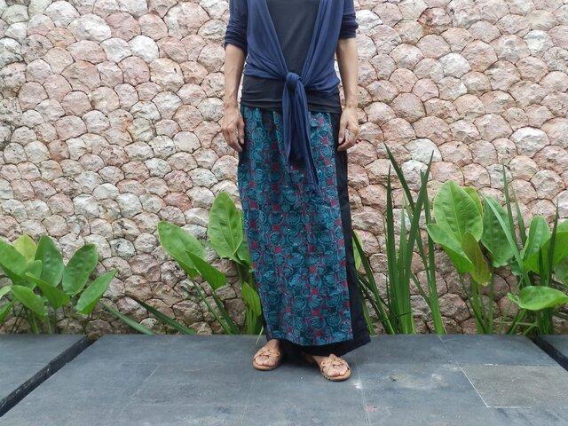 【受注製作】総刺繍ラップスカート付きパンツの画像1枚目