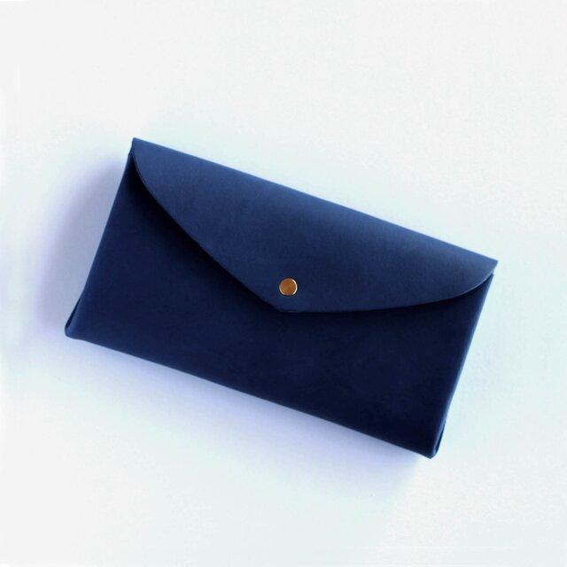 basic long wallet #navy/ ベーシックロングウォレット 長財布 #ネイビーの画像1枚目