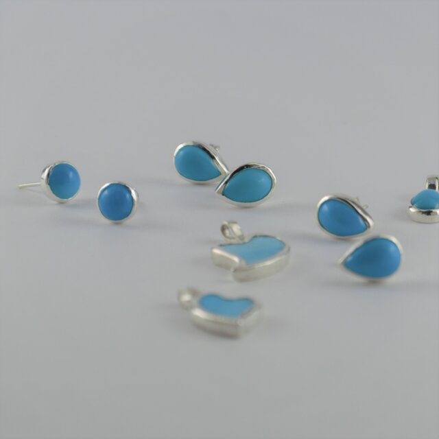 Turquoise Earringsの画像1枚目