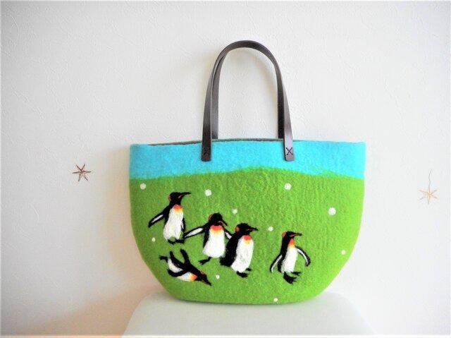 ペンギンの行進バッグの画像1枚目