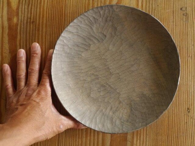 丸皿240薄白 けやき #0171の画像1枚目