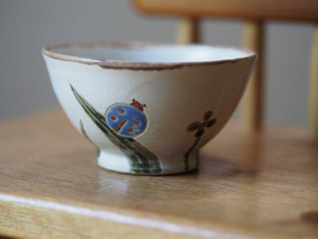 てんとう虫とクローバーのお茶碗 の画像1枚目