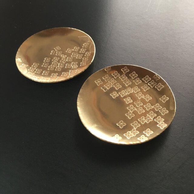 真鍮の紫陽花豆皿の画像1枚目