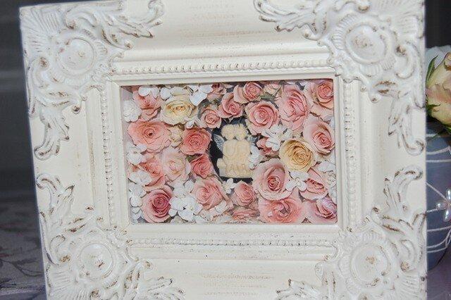 レカンフラワー カメオと薔薇の画像1枚目