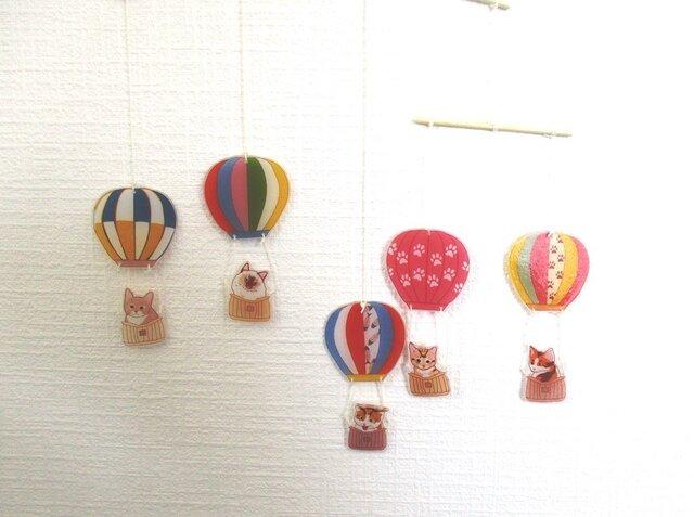 猫の気球モビールの画像1枚目