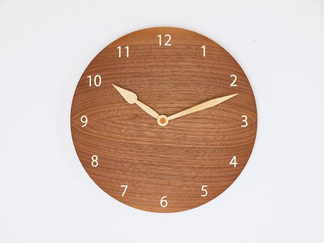 木製 掛け時計 丸 ブラックウォールナット材13の画像1枚目