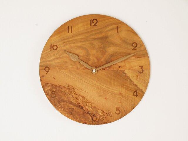 木製 掛け時計 丸 桜材7の画像1枚目
