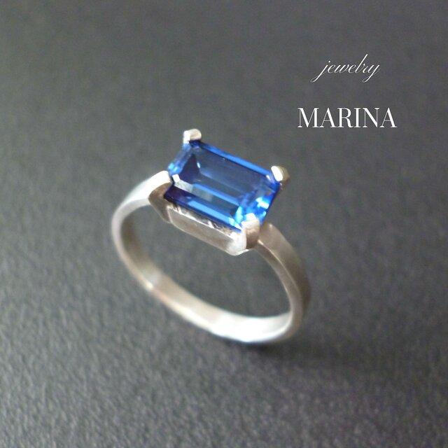 Octagon Ring - BLUEの画像1枚目
