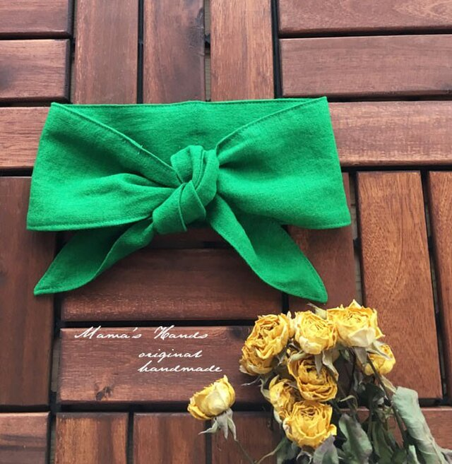 保冷剤 緑 リトアニア リネン 節約 快適 エコ スカーフ ネッククーラーの画像1枚目