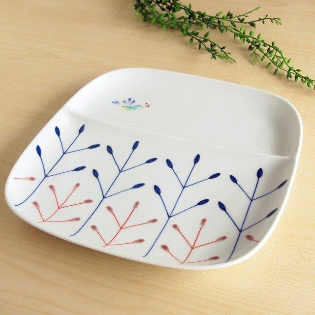 錦鳥と木立 仕切皿の画像1枚目