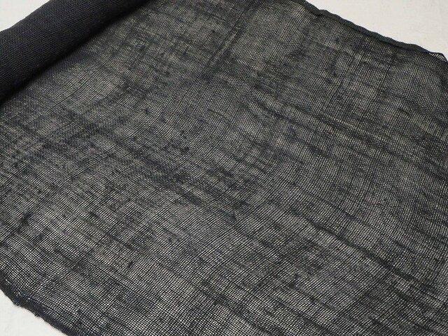 asa0026 麻布 蚊帳の解き150cm 藍染☆古布古裂/木綿/筒描き/型染め/藍染/絹/ボロ襤褸の画像1枚目