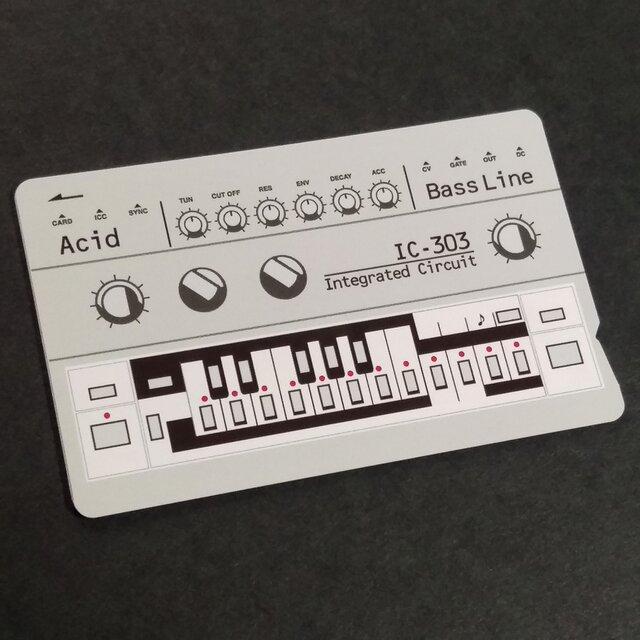 【ICカードステッカー】IC-303 Acid ICカードステッカーBass lineの画像1枚目