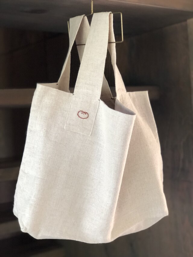 Linen bag ・Campagne/Redの画像1枚目
