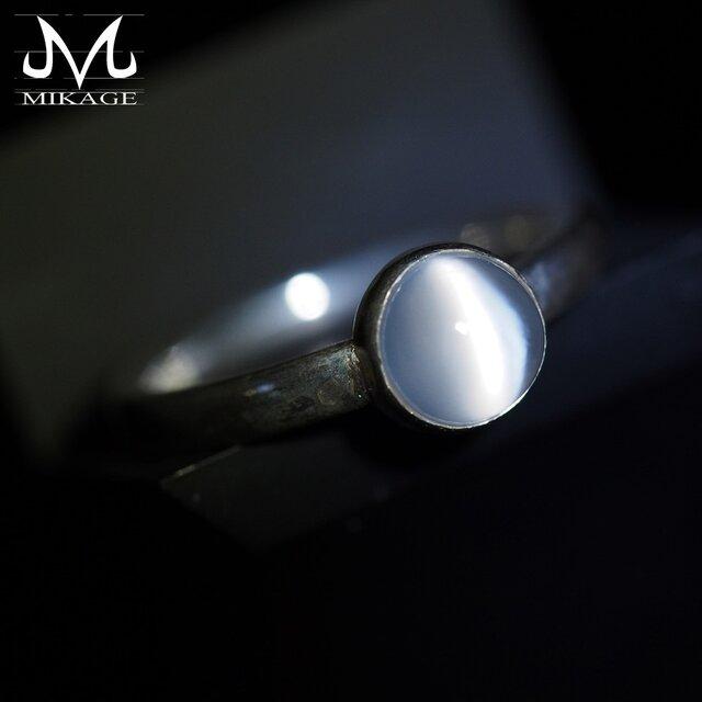 Moonstone Ring:銀925ムーンストーンリング(御影宝飾工房)の画像1枚目