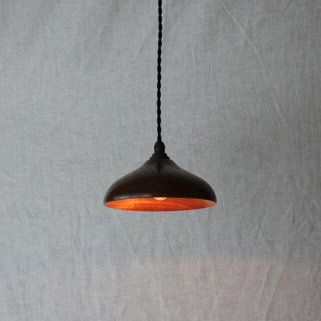 木と漆のランプ 楠 (ks13)の画像1枚目