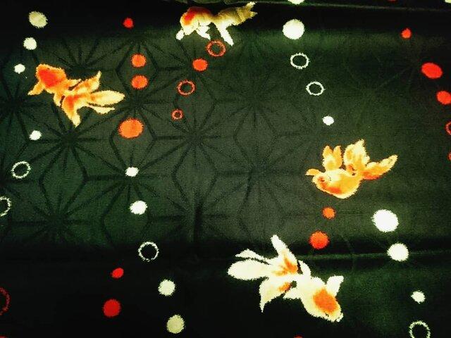 半襟 「ジンユィ」 玄羽麻の葉の画像1枚目