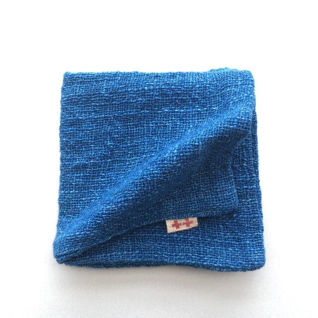 大ハンカチ  ブルー×ブルーの画像1枚目
