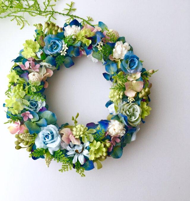 Hydrangea wreath purpleの画像1枚目