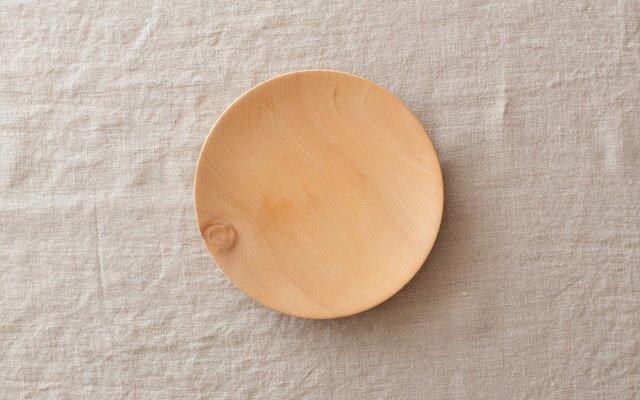 【再入荷在庫あり】ろくろ挽きの木皿 栃の木 15cmの画像1枚目