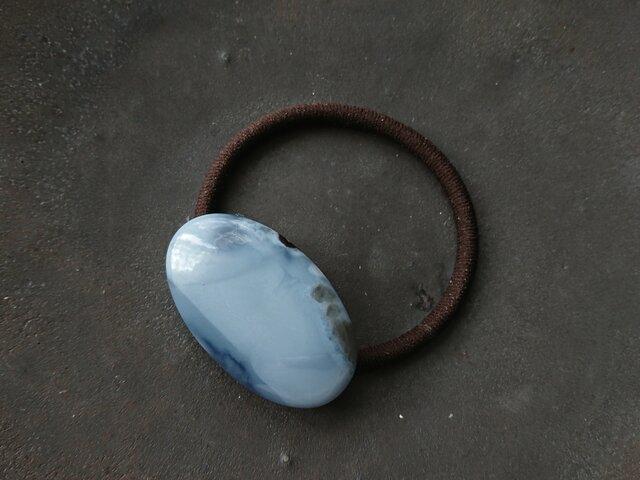 天然石の髪飾り「グラデーション ブルーオパールⅡ」の画像1枚目