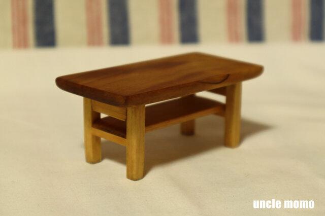 ドール用ローテーブル(色:チェスナット) 1/12ミニチュア家具の画像1枚目
