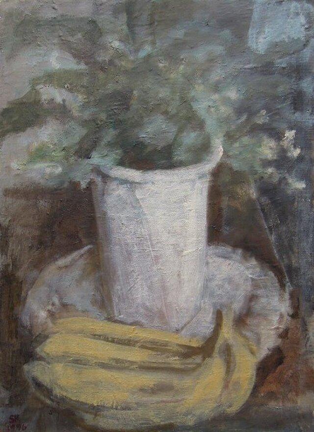 観葉植物とバナナの画像1枚目
