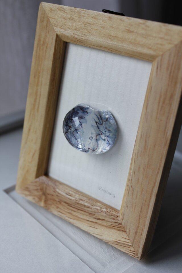 蜻蛉玉の飾り額〈風雅*藍〉〈2018-14〉の画像1枚目