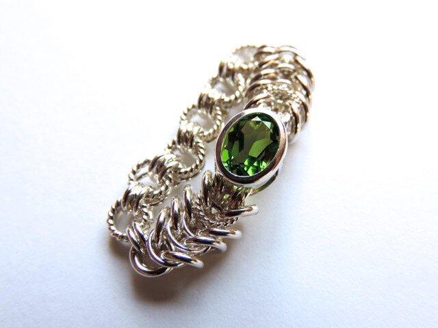 『 Vibrant green ( inner ) 』Ring by SV925の画像1枚目