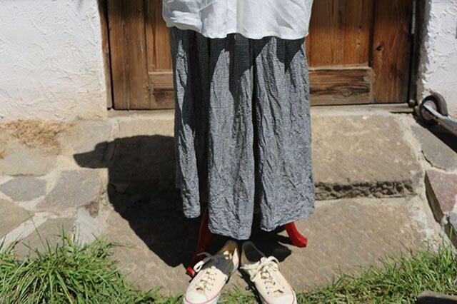 ギャザースカート:ミニギンガムの画像1枚目