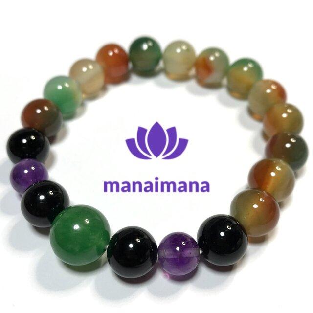 【manaimana】17〜17.5cm ♂♀兼用 富と繁栄と健康祈願のブレスレットの画像1枚目