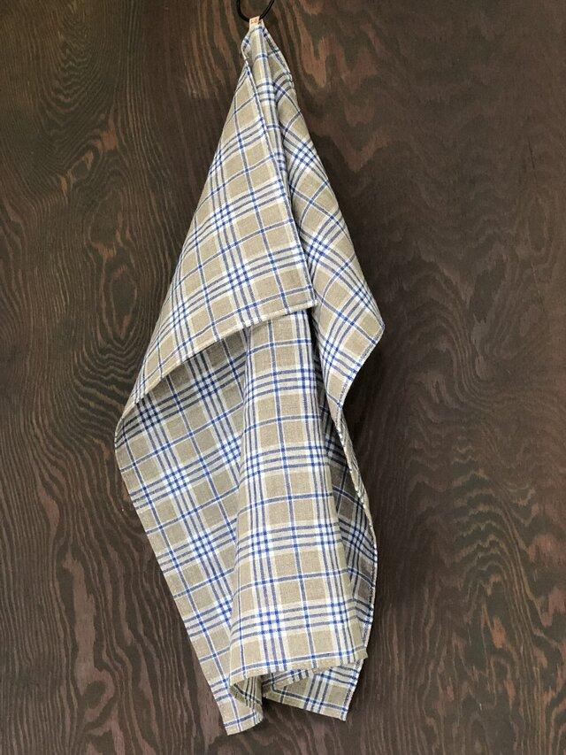 【TENUI】Linen multi cloth. BL×GYの画像1枚目