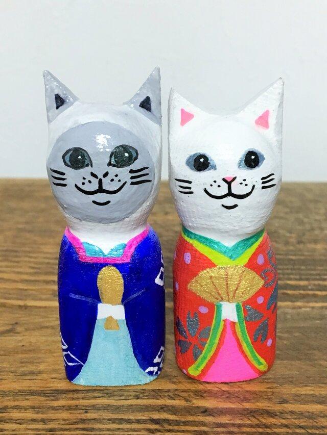 猫雛人形 の画像1枚目