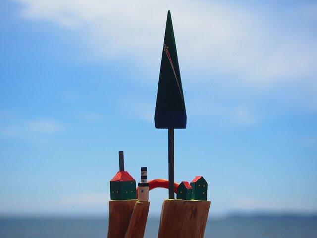 painted driftwood art 虹の架け橋の画像1枚目