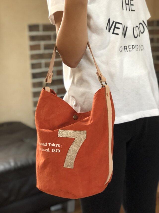 army duc bucket bag  7 orangeの画像1枚目