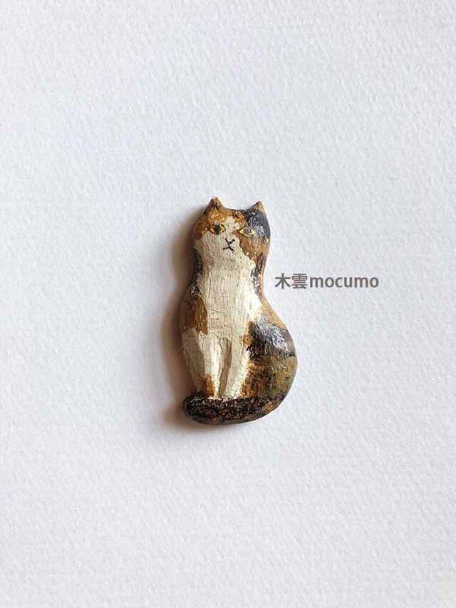 クスノキのブローチ *三毛猫* の画像1枚目