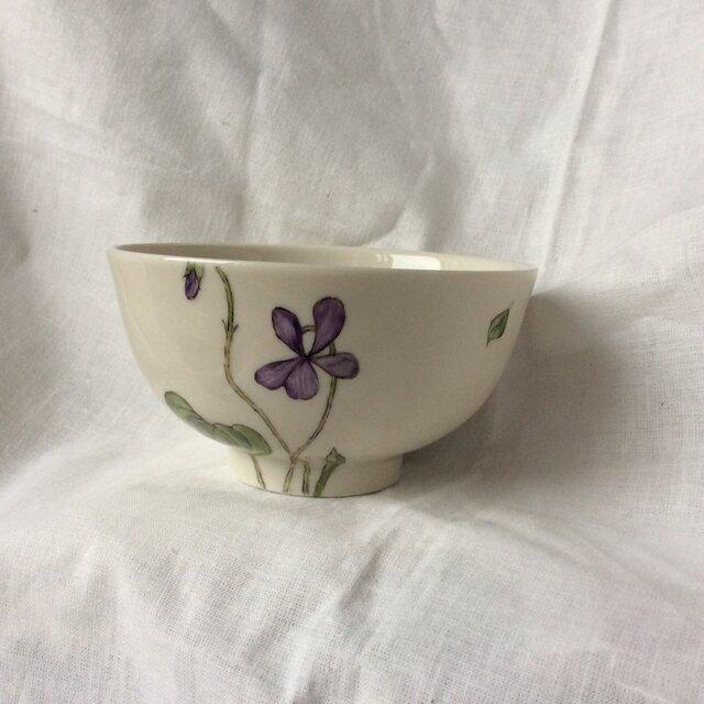 『北欧風 パンジー2』のお茶碗の画像1枚目
