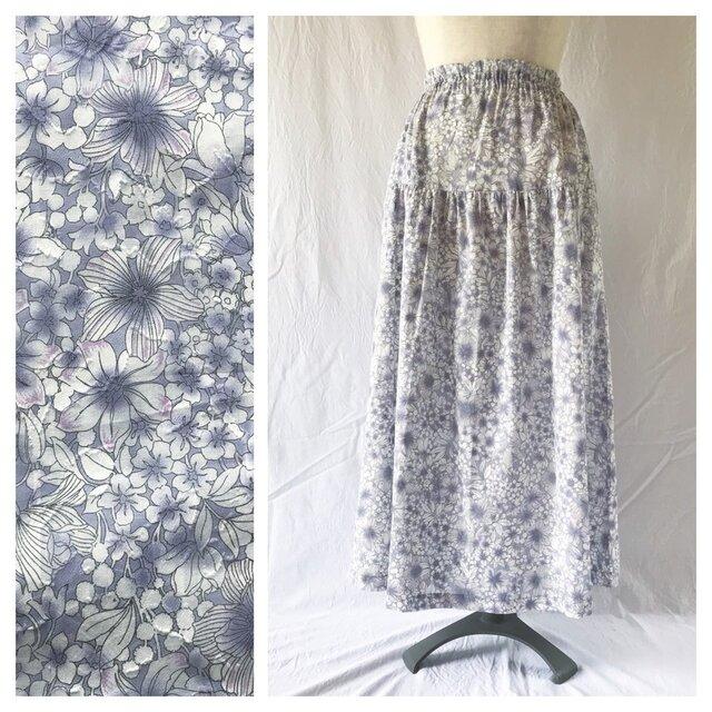 SALE!涼しく過ごすためのティアードスカート(静かな午後のスカート:ラベンダー)の画像1枚目